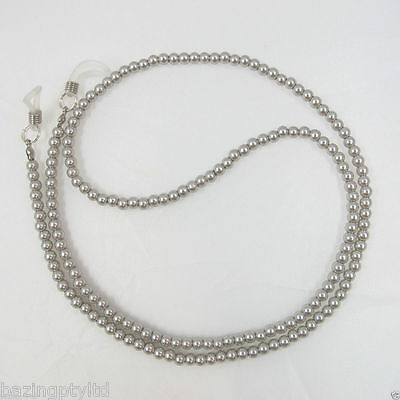 Silver Pearls Sunglasses Reading Glasses Spectacles Eyeglass Holder Chain Cord