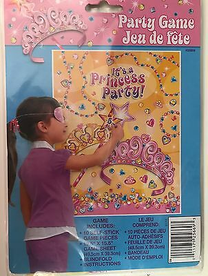 Pin / Stick the Star on The Tiara Childrens Birthday Party Game Princess Party