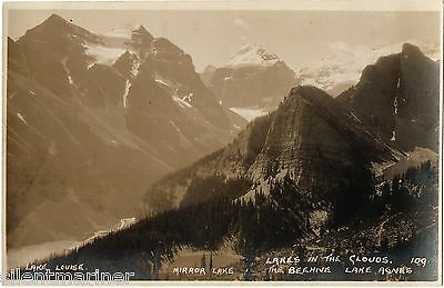 Lakes in the Clouds, Byron Harmon Canadian Pacific Railway RP postcard, unposted