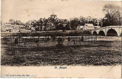 St. Asaph, General View, old Wrench Series postcard, unposted