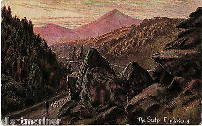 The Scalp, Enniskerry, Hildesheimer artist drawn postcard, posted 1906