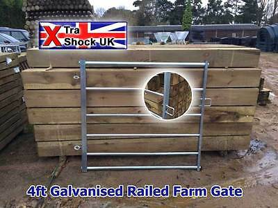 """4ft Railed Galvanised Field Gate 2"""" x 2"""" Box Ends"""