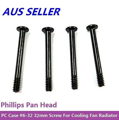 PC Case #6-32 32mm*3mm Screws with Phillips Pan Head for Cooling Fan Radiator