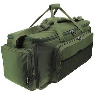 Large Jumbo Green Carp Fishing Insulated Tackle Carryall Bag Ngt