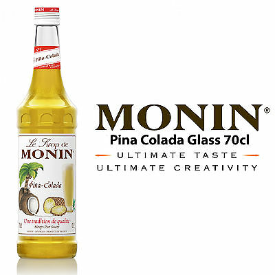 MONIN Coffee Syrups - 70cl Glass PINA COLADA Syrup - USED BY COSTA COFFEE