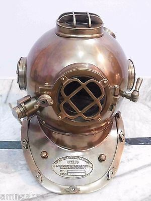Nautical Morse Divers Helmet U.S Navy Mark V Antique Solid Brass Full Size