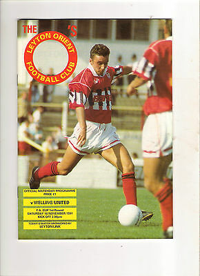 1991/2  Leyton Orient v Welling  (FAC)
