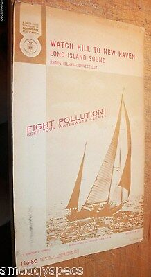Long Island Sound Watch Hill To New Haven 1972 116-SC nautical map + Fire Island