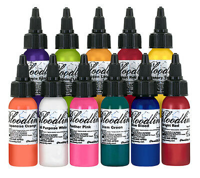 Bloodline Tattoo Inks - Professional Colour Tattoo Ink - 1oz Choose Your Colour