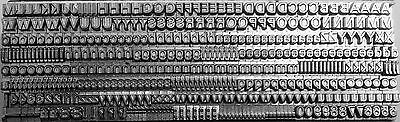 9 didot (on 10 point) Univers Letterpress Metal Printing Type Upper & Lower case