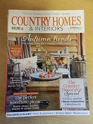 Country Homes & Interiors Magazine: October 2014. Excellent condition.