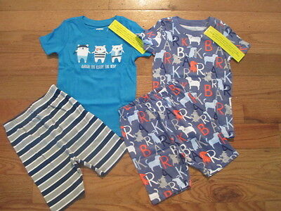 4 piece LOT of little boy spring/summer pajamas size 5 NWT GYMBOREE