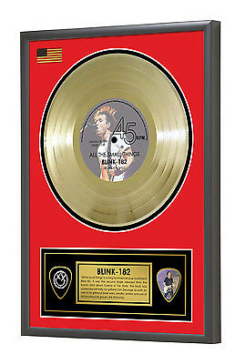 Blink 182 All the Small Things Framed Gold Disc Display Vinyl (45rpm)