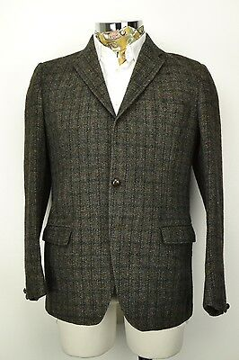 "40"" Regular Vintage 3 Button HARRIS TWEED Blazer JACKET John Collier"