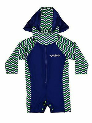RASHOODZ Boys Sunsuit with Chevron Panelling size 6-9 months - Brand New