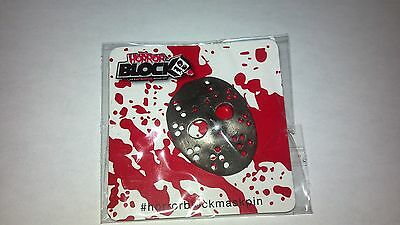 Horror Block Exclusive Jason Voorhees Friday the 13th Hockey Mask Pin