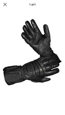 Hatch Defender MP100 XL Leather Biker Kevlar Gloves Riot Police Tactical Swat