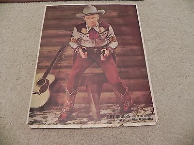 Roy Rogers King of the Cowboys picture and frame Vintage