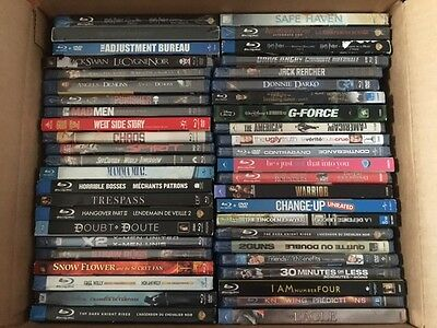48 Factory/Shrink Wrap Sealed Assorted Blu-ray + DVD (Canadian) w/tracking