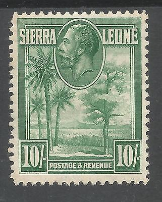 Sierra Leone Sg166 The 1932 Gv 10/- Green Mnh Cat £90+,see Scans