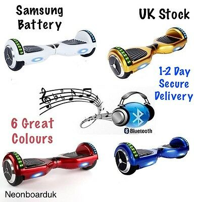 Samsung battery bluetooth 2 wheel electric swegway UK stock Hoverboard Disco led