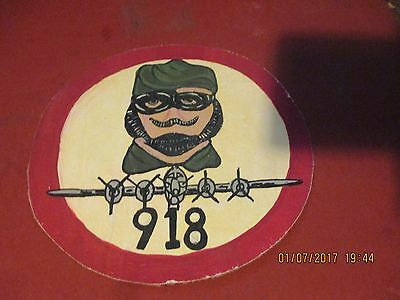 Wwii Usaaf 918 Bomb Group 12'0Clock High   Flight Jacket  Patch