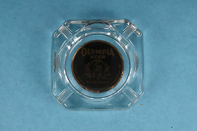 Vintage Olympia Beer Washington Glass Advertising Ashtray