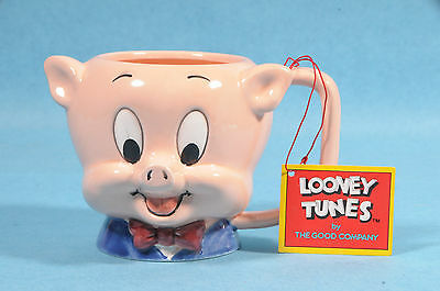 Vtg New 1989 Warner Brothers Porky The Pig Coffee Mug Mint In Box W/tag Xmas