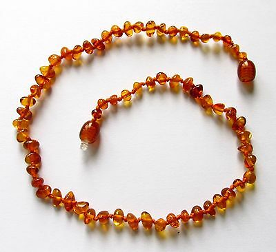 Child children genuine amber necklace amber baby to teen size cognac amber beads