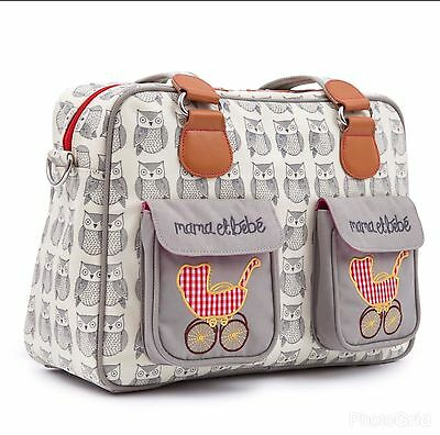 Pink Lining Wise Owl Mama et Bebe Baby Changing Bag New