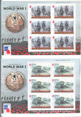 Isle of Man-Battle of the Somme set of sheets mnh 2016 Military-World War 1