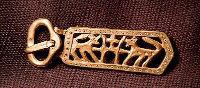 Mongol Buckle with wolf - W-82