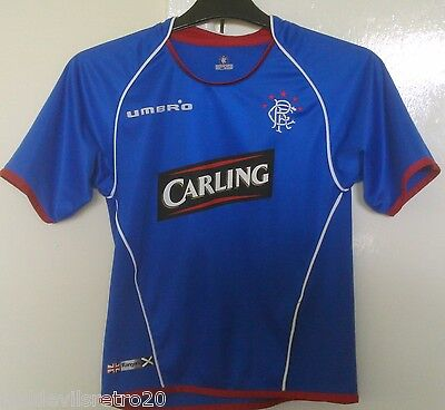 Glasgow Rangers 2005-2006 Official Umbro Football Shirt (Youths 7-8 Years)