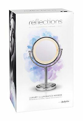 BaByliss Reflections Luxury LED Chrome Mirror Luxury Double Sided Swivel Make Up