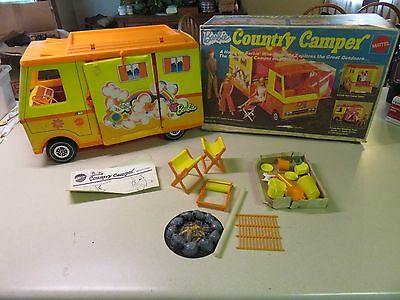 1970 Barbie Country Camper With Box and Extras