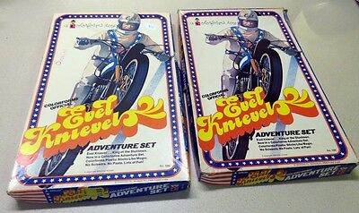 (2) Sets Evel Knievel Colorforms Adventure Sets
