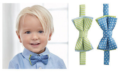 Elegant Baby Boy Easter or Holiday Blue Dots Or Green Stripes Zoom Zoom Bow Tie