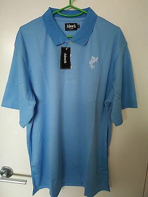 TOUR STYLE GOLF SHIRT with Logo - SKY BLUE PREMIUM COTTON  - SIZE (USA) MEDIUM