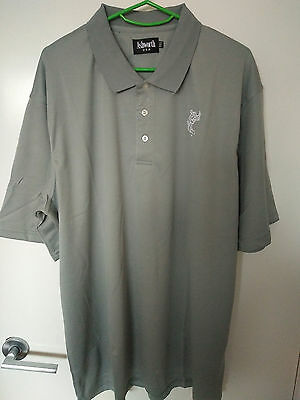 TOUR STYLE GOLF SHIRT LIGHT GREY PREMIUM COTTON with Logo - SIZE (USA) MEDIUM