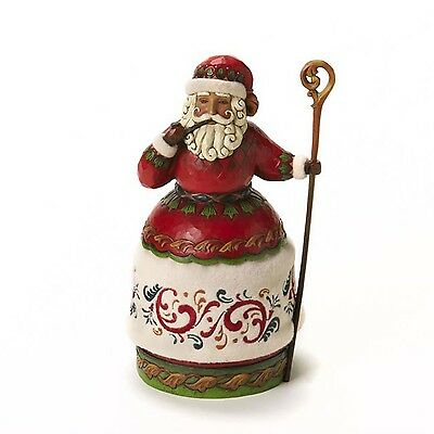 Jim Shore Heartwood Creek Santa with Pipe and Cane Figurine 10-Inch