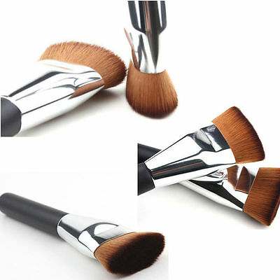 New Flat Head Professional Makeup Cosmetic Blush Contour Foundation Brush Tool
