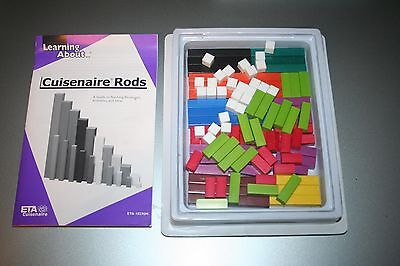 Vintage Cuisenaire Rods ALL 10 SIZES Math Manipulatives Home School 100 Rods!