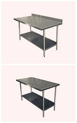 2017 Stainless Steel Commercial Catering Table Work Bench Kitchen With Splash