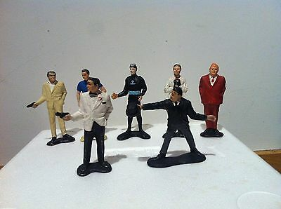 Vintage 1960's James Bond 007 Movie figures by Gilbert Toys Usa