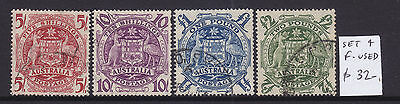 1949-50 Arms Set   Very Fine Used Set Of 4