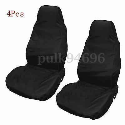 4pcs Universal Car Van Waterproof Nylon Front Seat Covers Heavy duty Protectors
