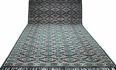 Antique tribal vintage very large hand-knotted rug (8' x 15.5') 100% wool  # 102
