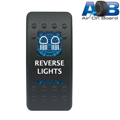 Rocker switch 526B2 12V REVERSE LIGHTS Carling ARB type LED blue on-off-on