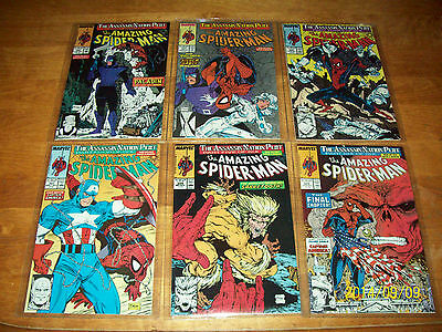 Amazing Spider-Man #320-325 The Assassin Nation Plot Part 1-6 Complete NM-