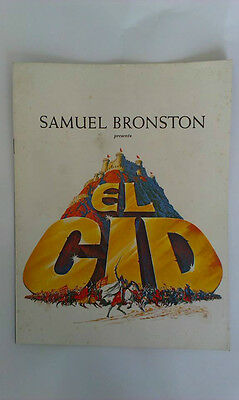 Samuel Bronston's El Cid Movie Program Book Soft Cover 1961 18 Pages